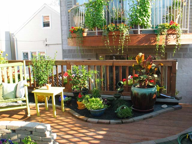 rooftop patio container garden chicago