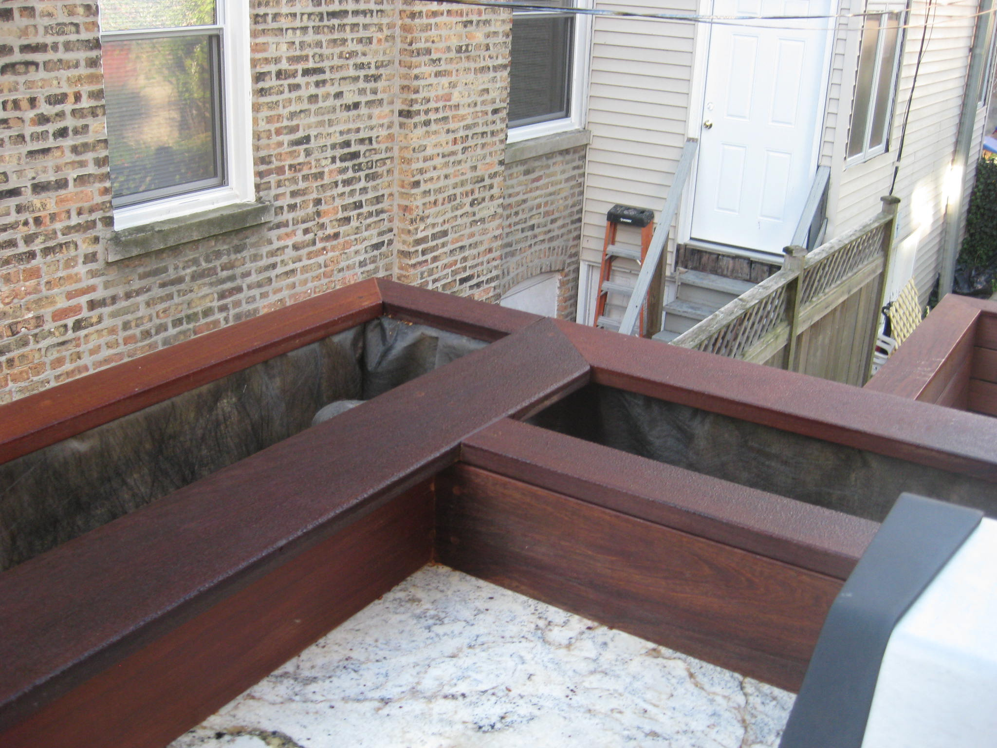 backyard deck container garden in chicago