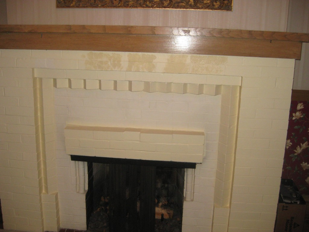 fireplace stencil before