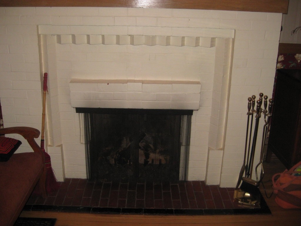 fireplace stencile before