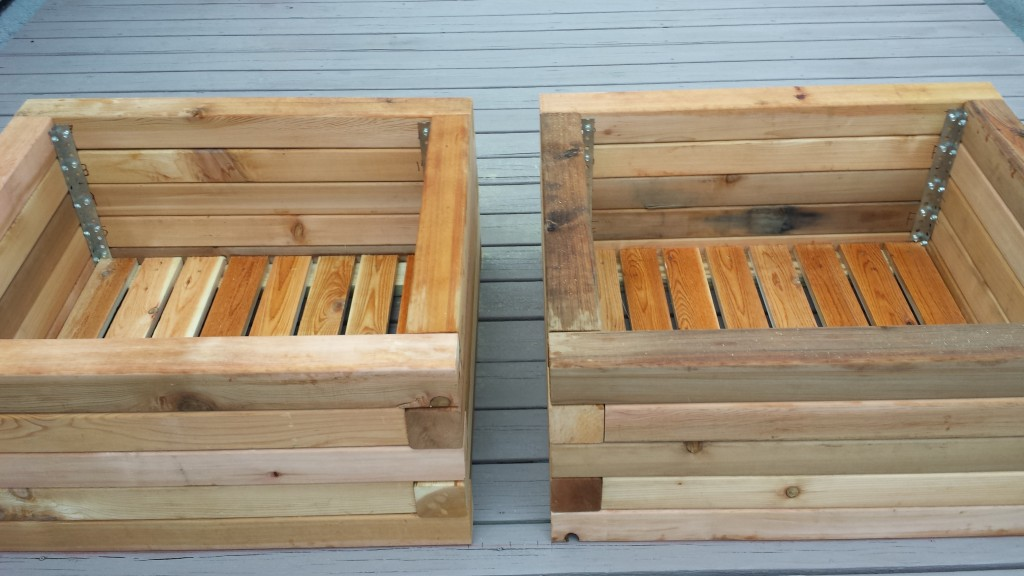 custom cedar raised beds
