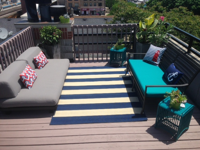 rooftop deck after